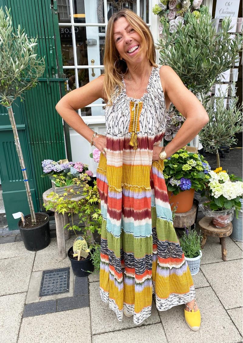 M.A.B.E Calla Printed Maxi Dress - Multi main image