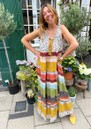 M.A.B.E Calla Printed Maxi Dress - Multi