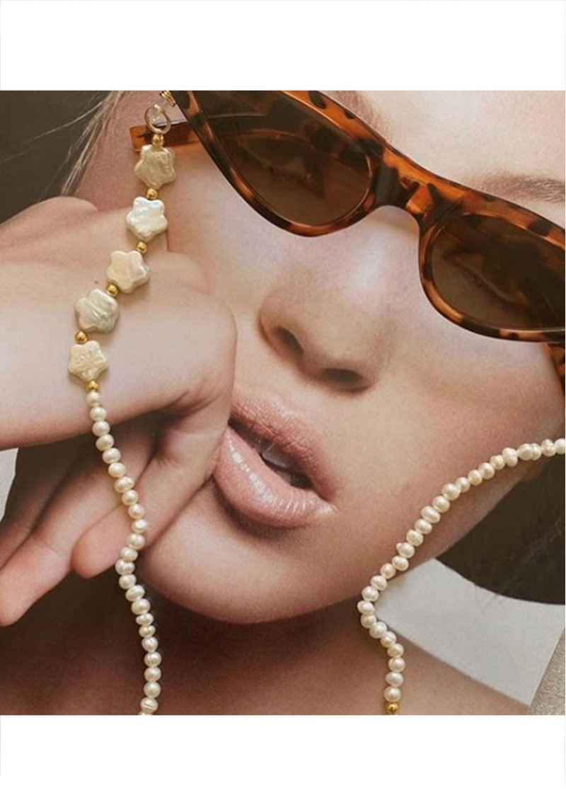 TALIS CHAINS Shooting Star Pearl Beaded Glasses Chain - Multi main image