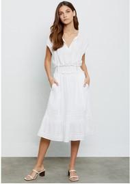 Rails Ashlyn Linen Mix Dress - White Lace Detail