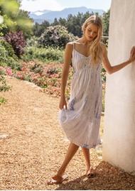 Rails Delilah Linen Mix Dress - Cloud Tiedye