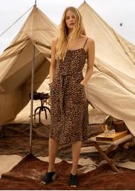Rails Evie Midi Dress - Golden Leopard