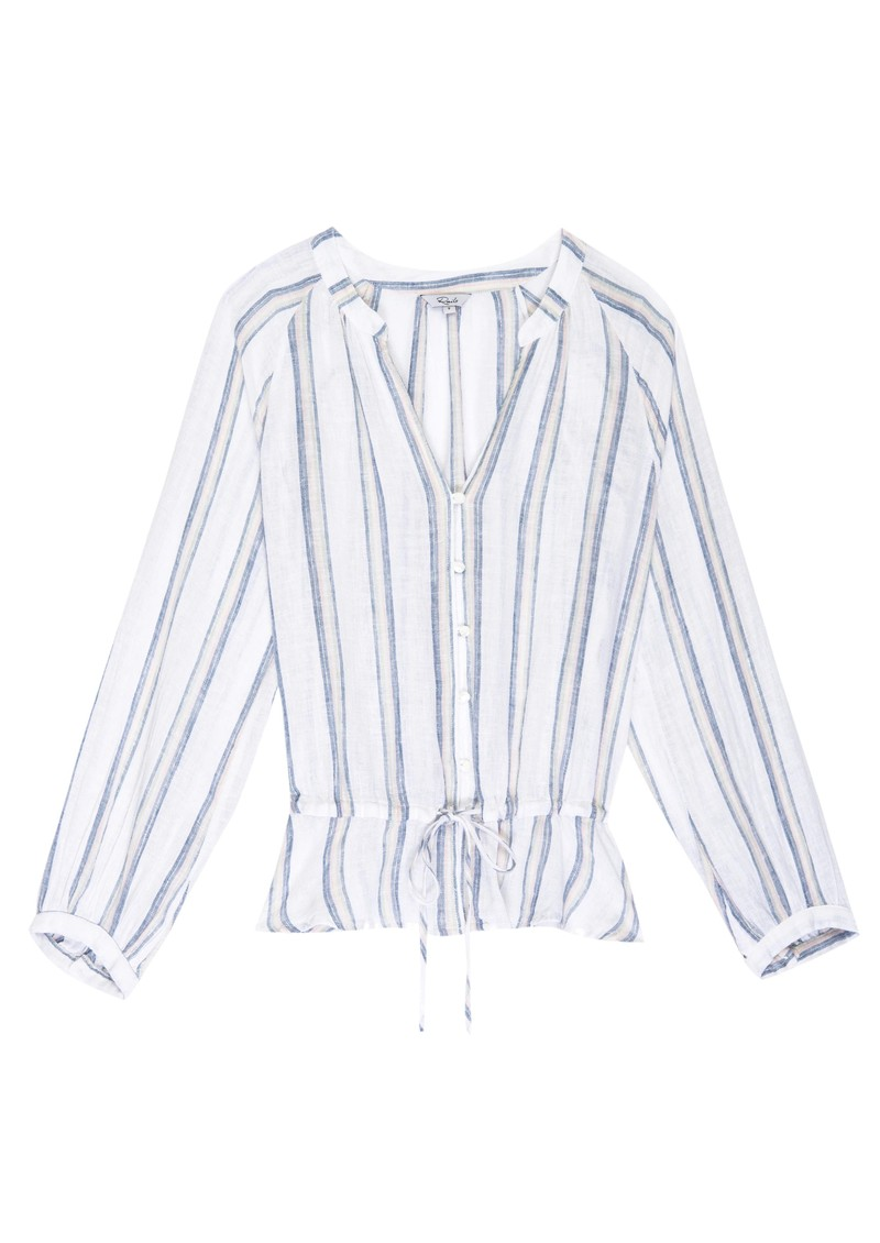 Marti Linen Mix Blouse - Ryland Stripe main image