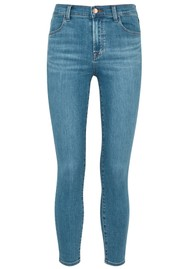 J Brand Alana High Rise Cropped Skinny Photo Ready Jeans - Pioneer