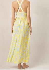 HEIDI KLEIN Cross Back Maxi Dress- Print