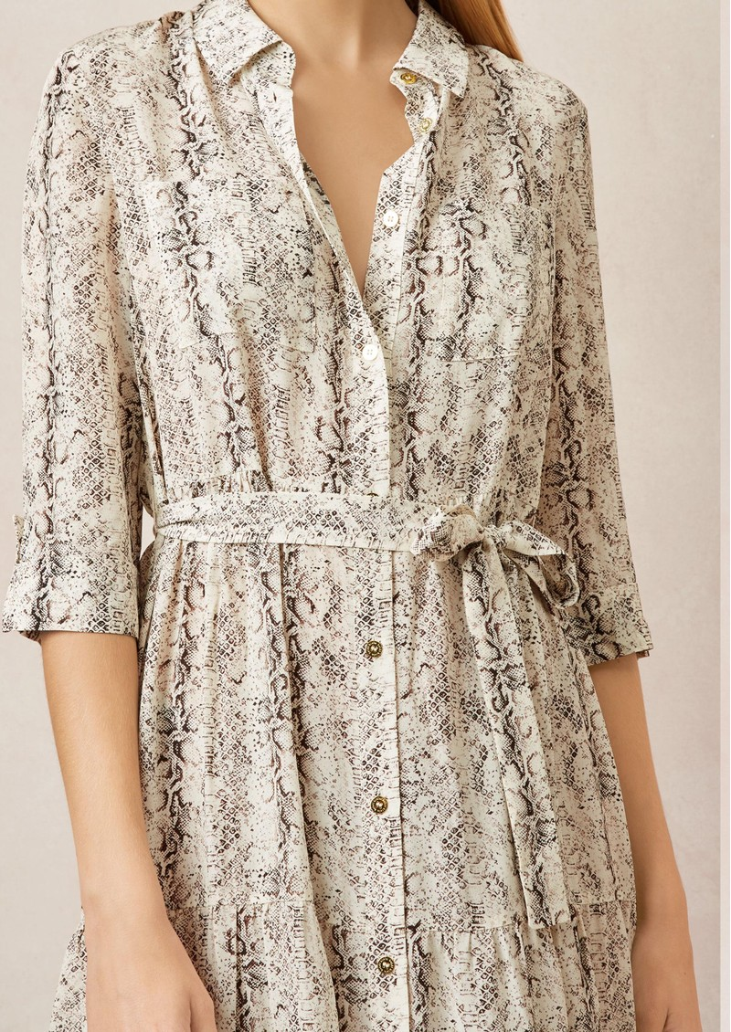 HEIDI KLEIN Maxi Shirt Dress - Python main image