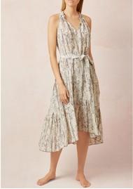 HEIDI KLEIN Frill Midi Dress - Python