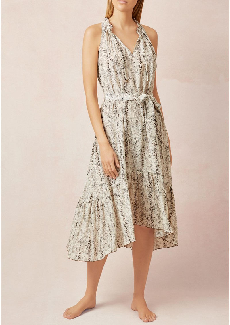 HEIDI KLEIN Frill Midi Dress - Python main image