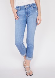 Paige Denim Brigitte High Rise Slim Fit Boyfriend Jeans - Folk Distressed