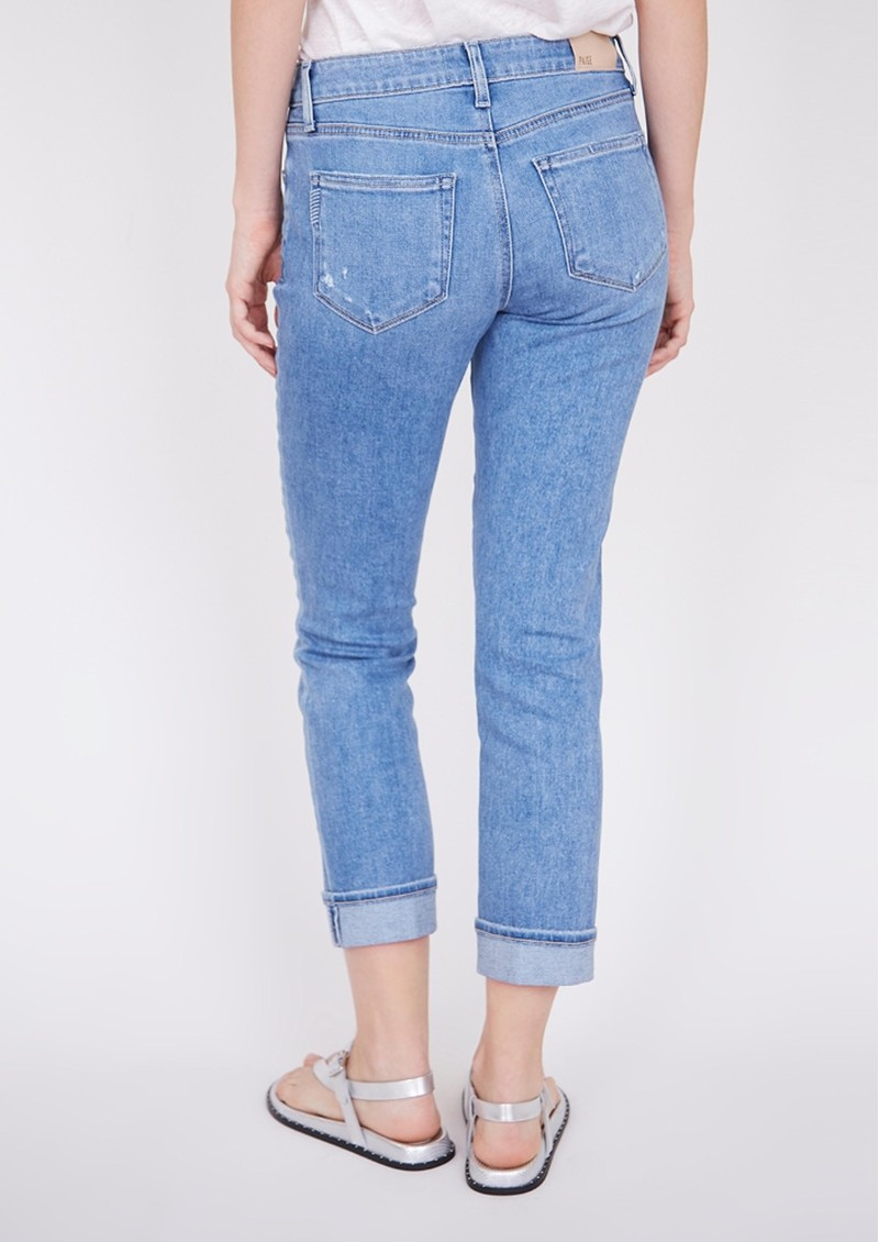 Paige Denim Brigitte Mid Rise Slim Fit Boyfriend Jeans - Folk Distressed main image