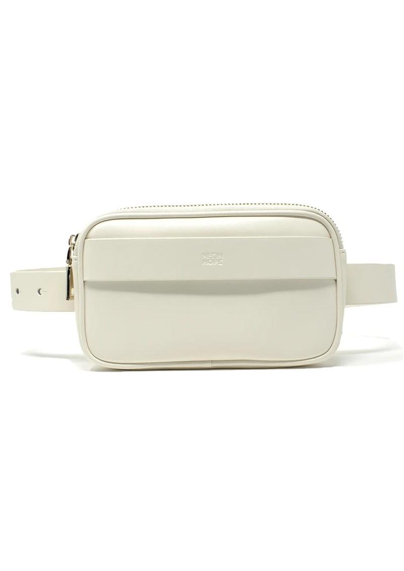 NEON HOPE Leather Bumbag & Belt - Cream main image
