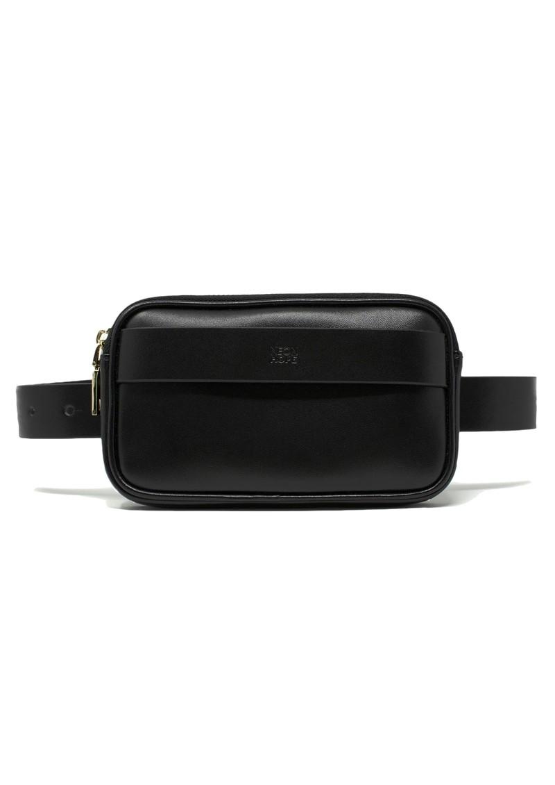 NEON HOPE Leather Bumbag & Belt - Black main image
