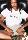 DONT TELL MAMA The King Is A Woman Cotton Tee - White