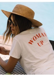 DONT TELL MAMA Woman Up Cotton Tee - White