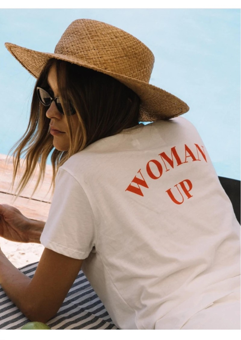DONT TELL MAMA Woman Up Cotton Tee - White main image