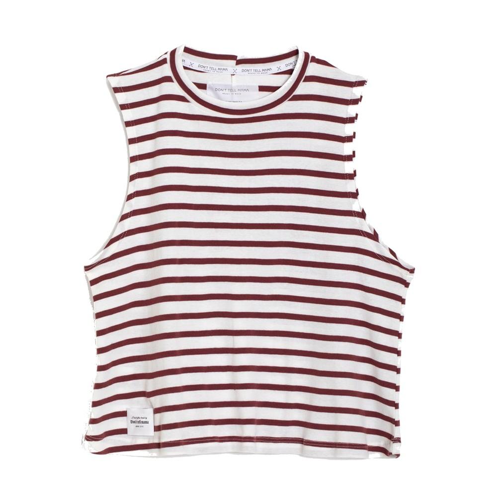 Sailor Breezy Stripe Cotton Tank - Red