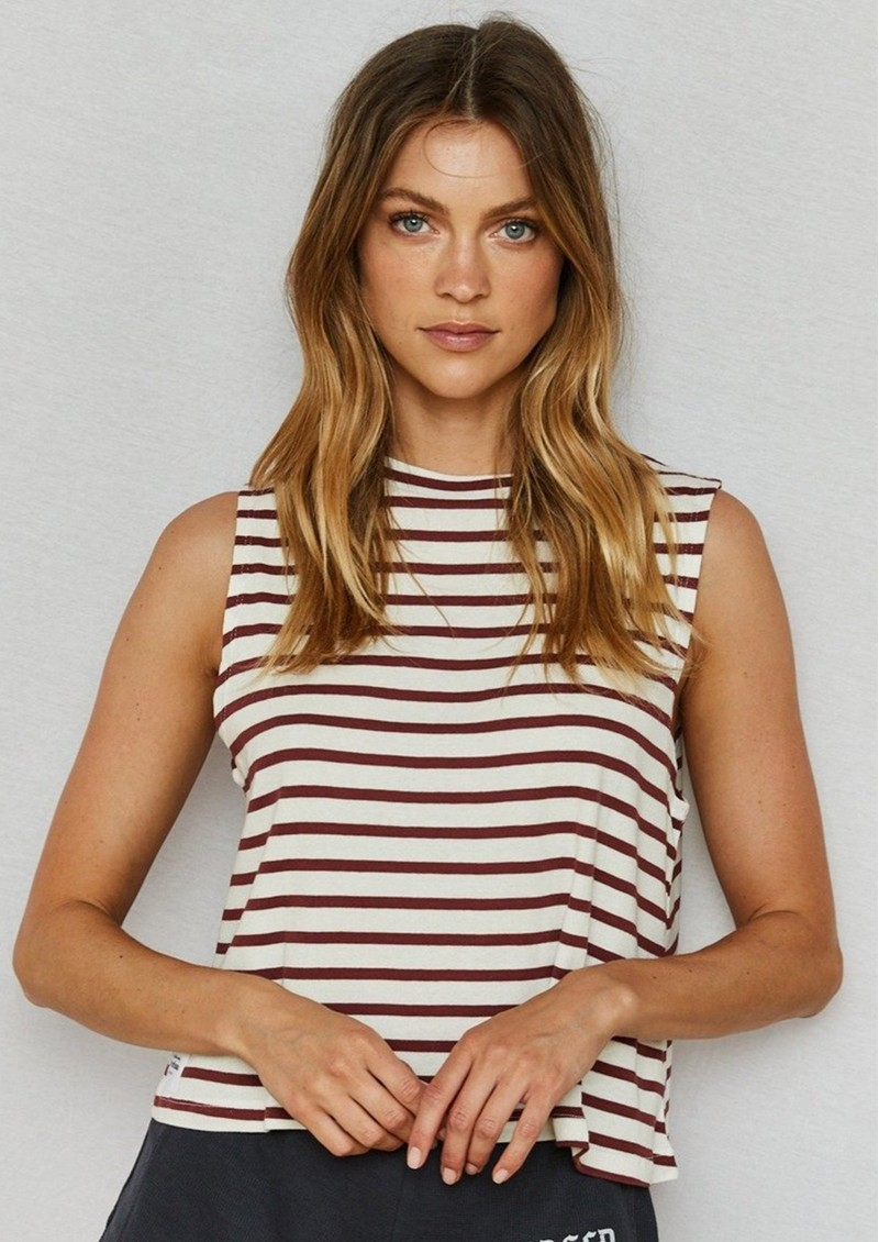 DONT TELL MAMA Sailor Breezy Stripe Cotton Tank - Red main image