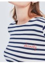 MAISON LABICHE Sailor Organic Cotton Obviously Top - Ivory Navy