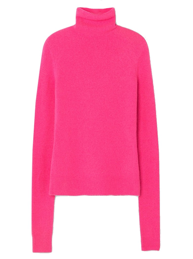American Vintage Damsville Roll Neck Jumper - Pinky main image