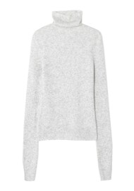American Vintage Damsville Roll Neck Jumper - Heather Grey