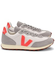 VEJA Riobranco Hexamesh Trainers - Gravel, Orange Fluro & Oxford Grey
