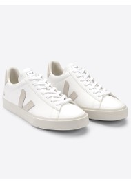 VEJA Campo Suede Trainers - Extra White & Natural
