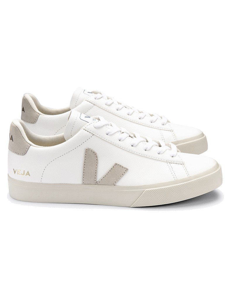 VEJA Campo Leather Trainers - Extra White & Natural main image