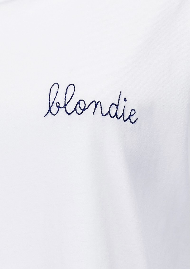 MAISON LABICHE Blondie Organic GOTS Cotton Blondie Tee - White main image