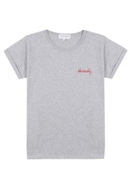 MAISON LABICHE Obviously Organic GOTS Cotton Tee - Light Heather Grey