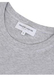MAISON LABICHE Boyfriend Organic GOTS Cotton Legend Tee - Light Heather Grey
