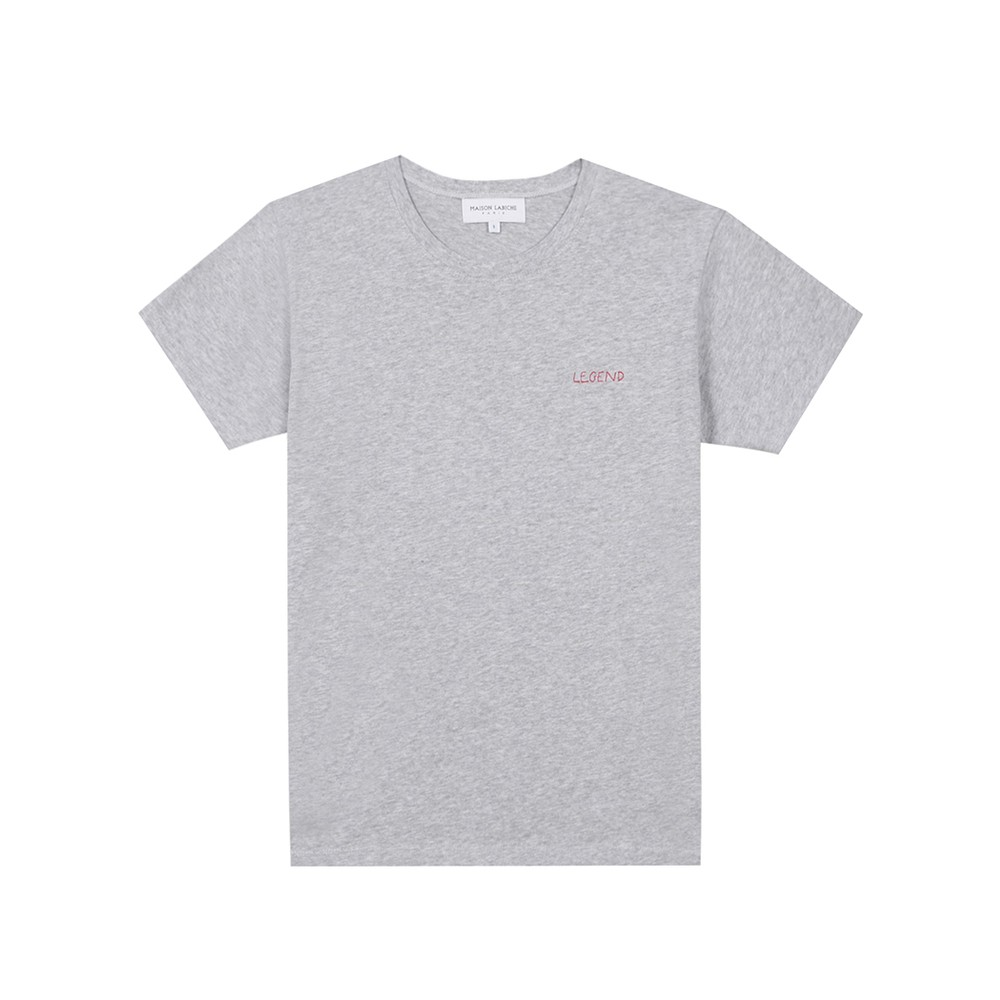 Boyfriend Organic GOTS Cotton Legend Tee - Light Heather Grey