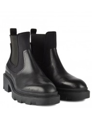 Ash Metro Chunky Leather Chelsea Boots - Black