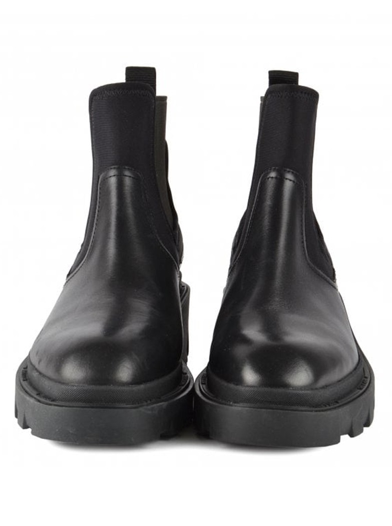 Ash Metro Chunky Leather Chelsea Boots - Black main image