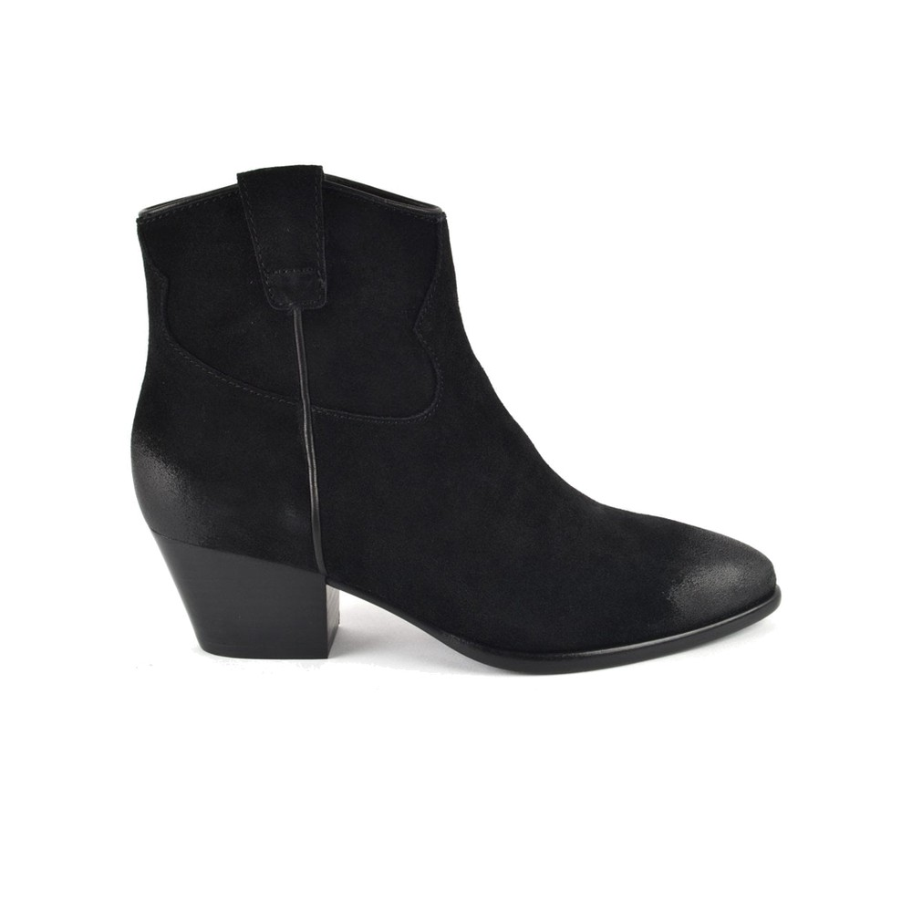 Houston Brushed Suede Boots - Black
