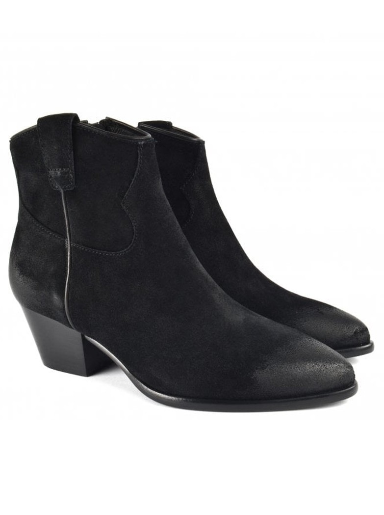 Ash Houston Brushed Suede Boots - Black main image