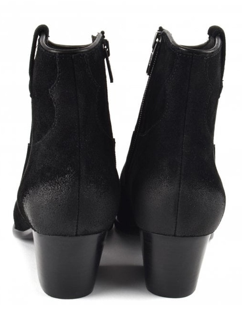 Ash Houston Brushed Suede Boots - Black main image