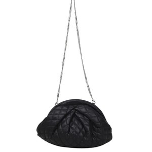 Saki Silky Quilted Leather Bag - Black