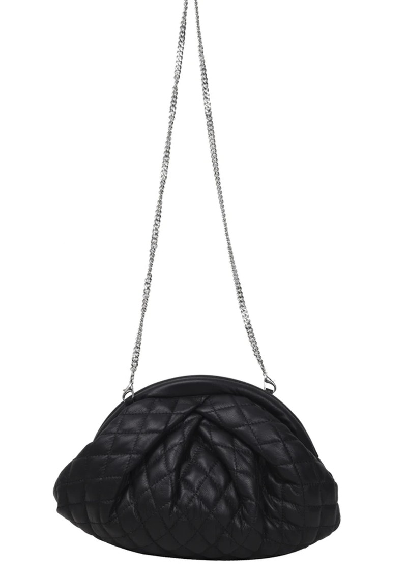 NUNOO Saki Silky Quilted Leather Bag - Black main image
