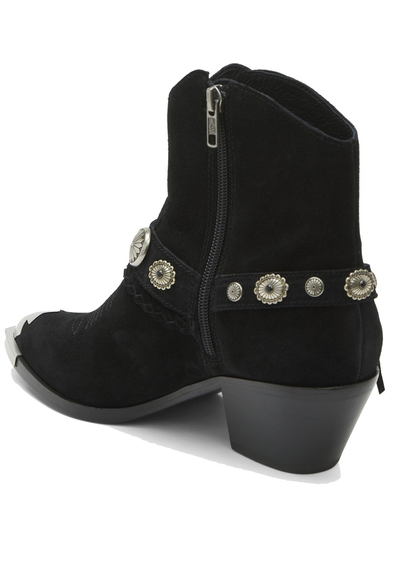 Ash Farrow Suede Western Ankle Boot - Black main image
