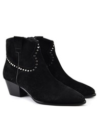 Ash Houston Bis Studded Suede Boots - Black