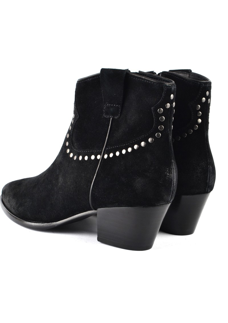 Ash Houston Bis Studded Suede Boots - Black main image