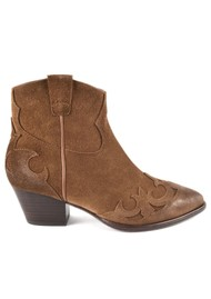 Ash Harlow Suede Ankle Boot - Russet