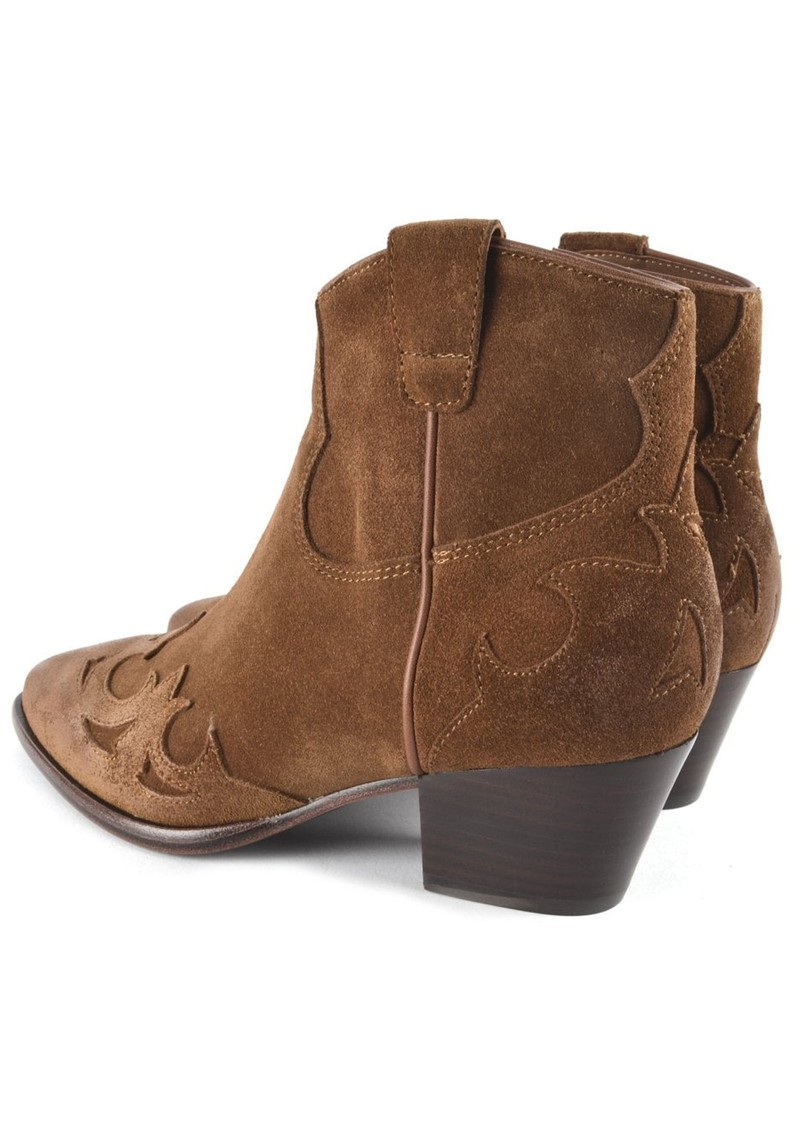 Ash Harlow Suede Ankle Boot - Russet main image