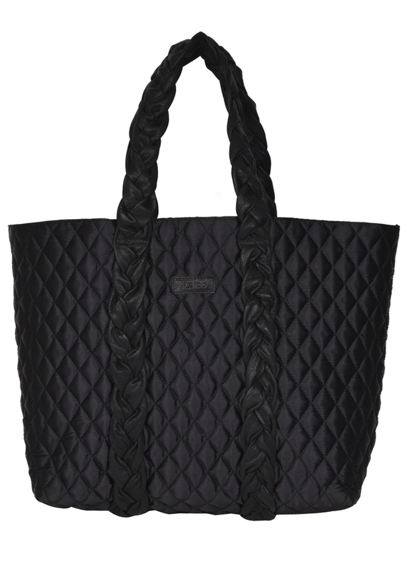 NUNOO Quilted Leather Shopper Bag - Black main image