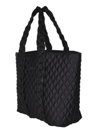 NUNOO Quilted Leather Shopper Bag - Black