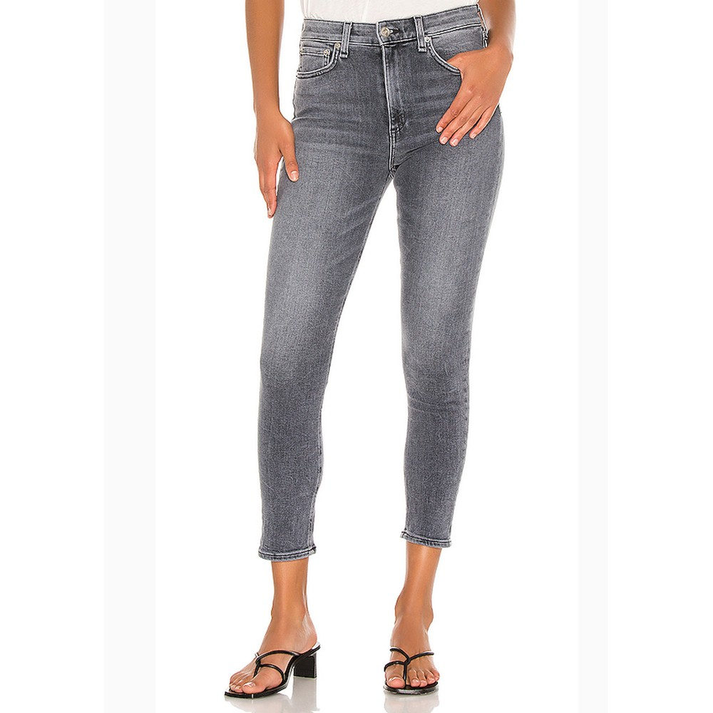 Nina High Rise Ankle Skinny Jeans - Sand River