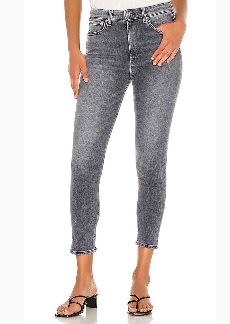 Nina High Rise Ankle Skinny Jeans - Sand River main image