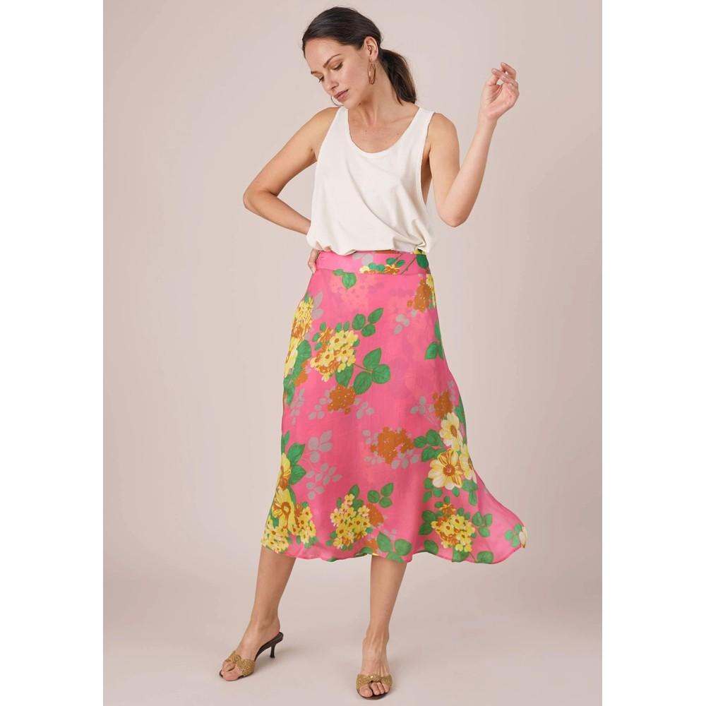 Colette Skirt - Pink Floral