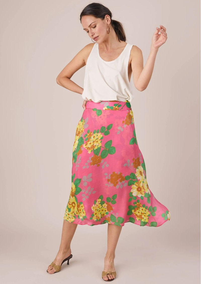 BAILEY & BUETOW Colette Skirt - Pink Floral main image