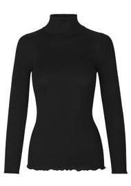 Rosemunde Babette Polo Neck Top - Black
